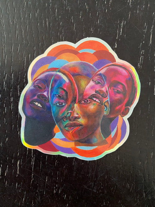 """Taboo 2.6"""" x 2.6"""" Holographic Sticker"""
