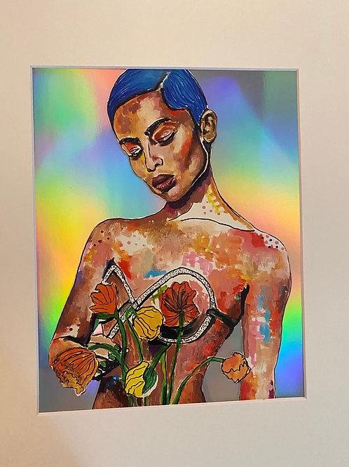 Zoe Kravitz Collage Art Print