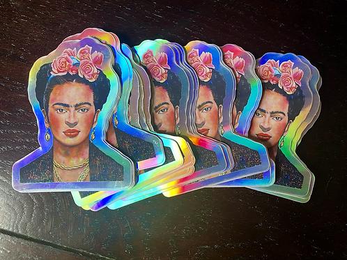 "Frida No. 8 Holographic 2.6"" x 3.4"" Sticker"