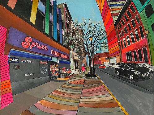 Spruce Street 24 x 30 Original