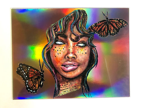 LOVE SZA Collage Print (Holographic/Gold/Rose Gold))