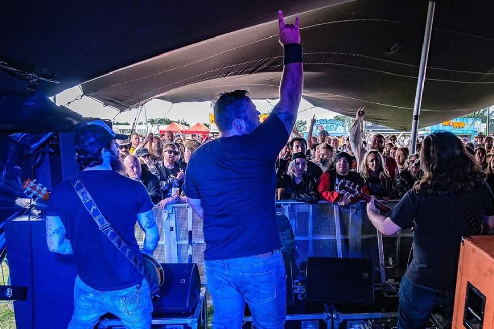 Black Falcon playing the stage at Bloodstock open air festival 2019