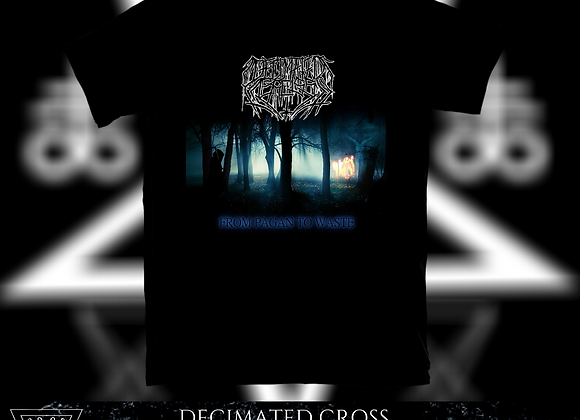 Decimated Cross - From Pagan To Waste T-shirt