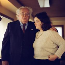 solemn holocaust survivor and daughter