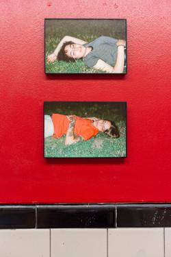 fine art photography gallery documentation women lying in grass