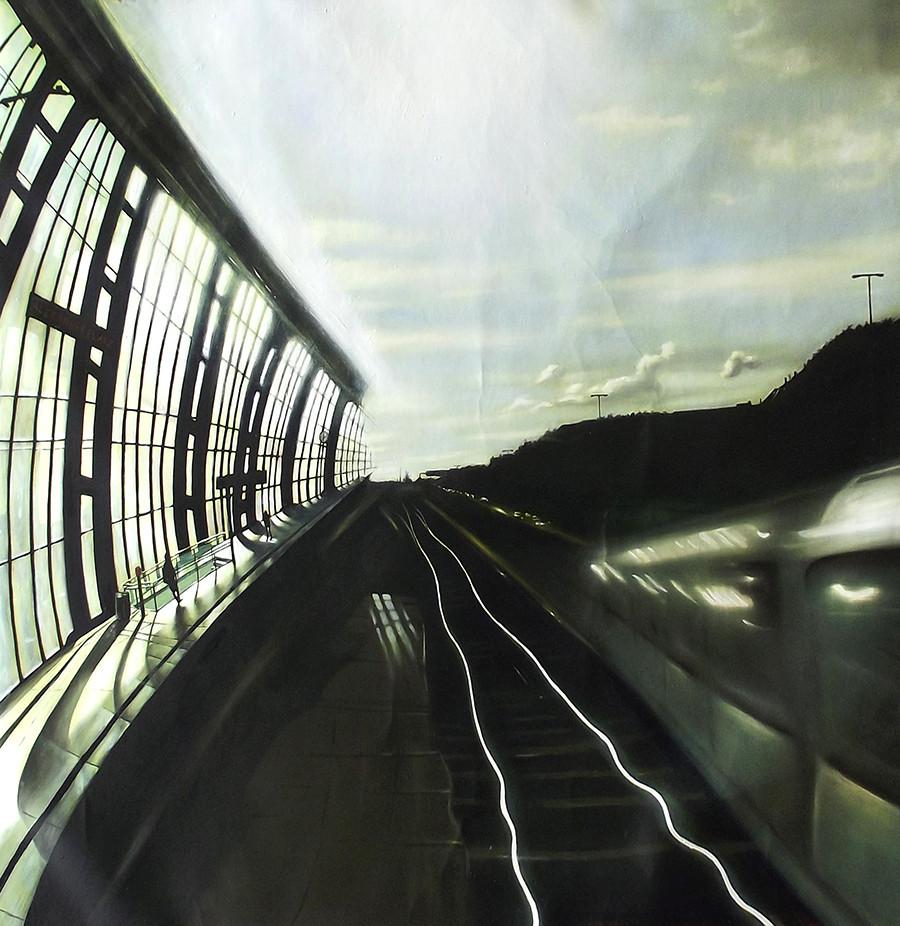 TRAIN STATION ALEXANDERPLATZ BERLIN
