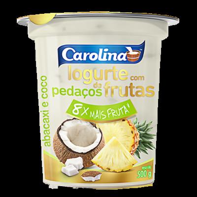 Pedaços abacaxi coco 500