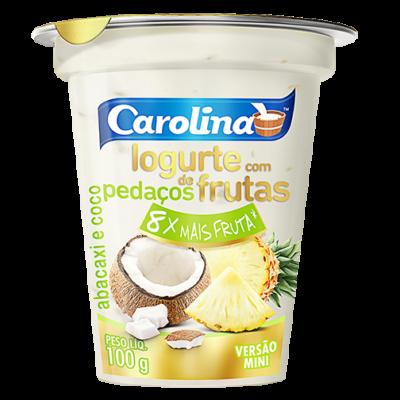 Pedaços abacaxi coco 100