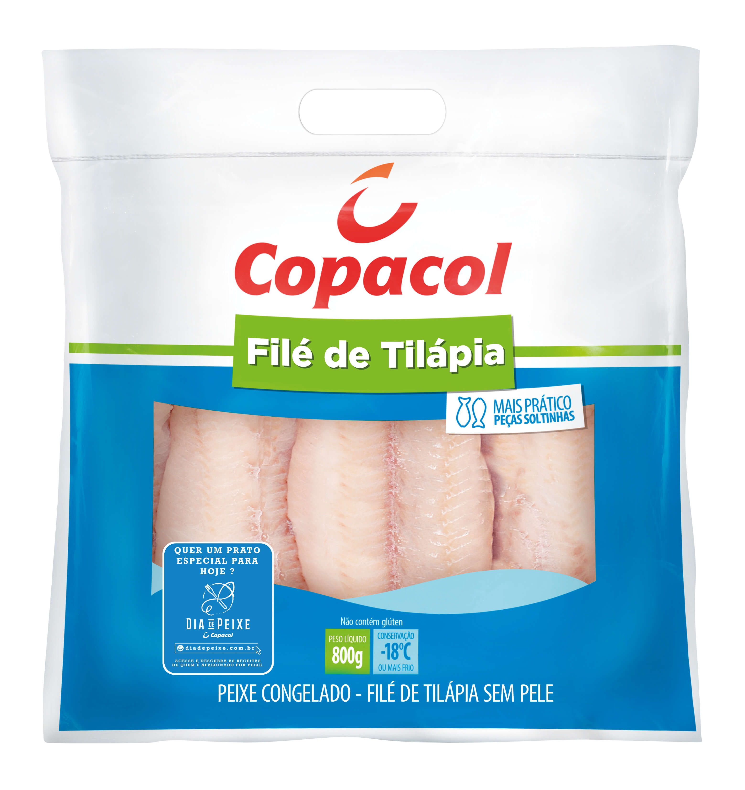 Filé de tilápia 800g