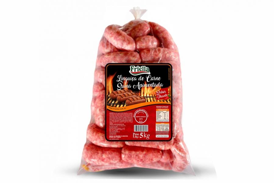 Linguica de carne suína apimentada