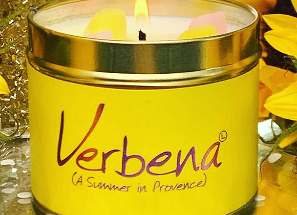 Verbena Scented Tin Candle