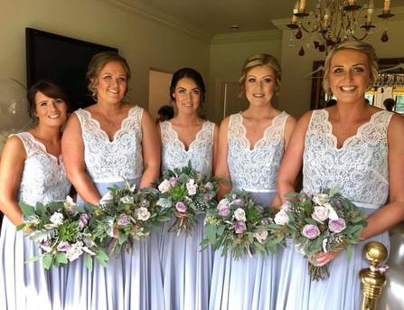 lilac bridesmaid bouquets
