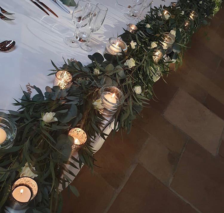 top table foliage garland