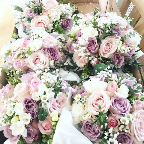Bridal bouquets at Mere Court Hotel