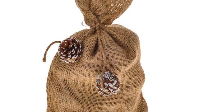 Hessian Bag of Cinnamon Scented Pinecones