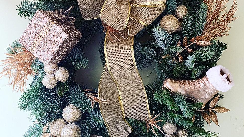 Gold Lustre Wreath (3 Options)