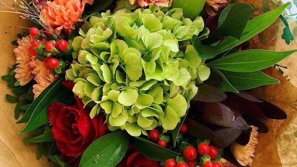 Autumnal Warmth - Handtied Bouquet (£30-£50)