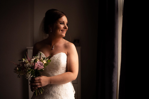 dusky pink bride's bouquet