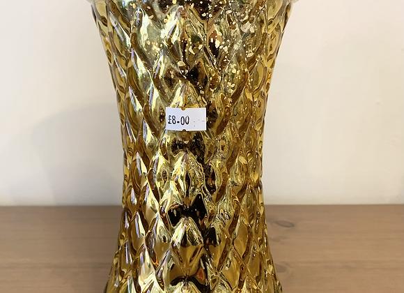 Gold Handtied Vase