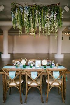 Hanging wisteria restaurant flowers