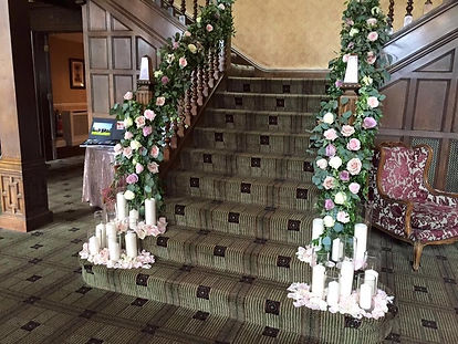 Wedding flowers and venue decoration in Cheshire. Warrington florist covering Chester, Cheshire, Manchester, Liverpool and Lancashire. Venue Inglewood Manor. Florist in Warrington
