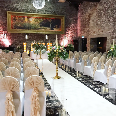 wedding venue decoration at lancashire manor