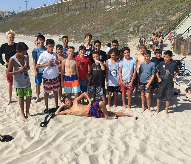 Tuesday Beach Workout Crew_ Put in tons