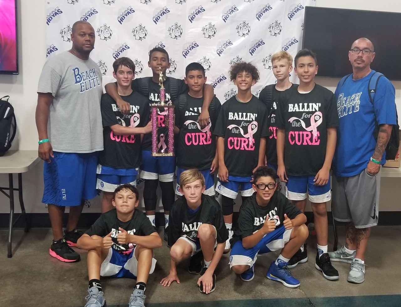 Boys 13U Champions Ballin' for a Cure Ja