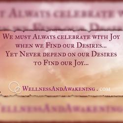 Desires to find Joy
