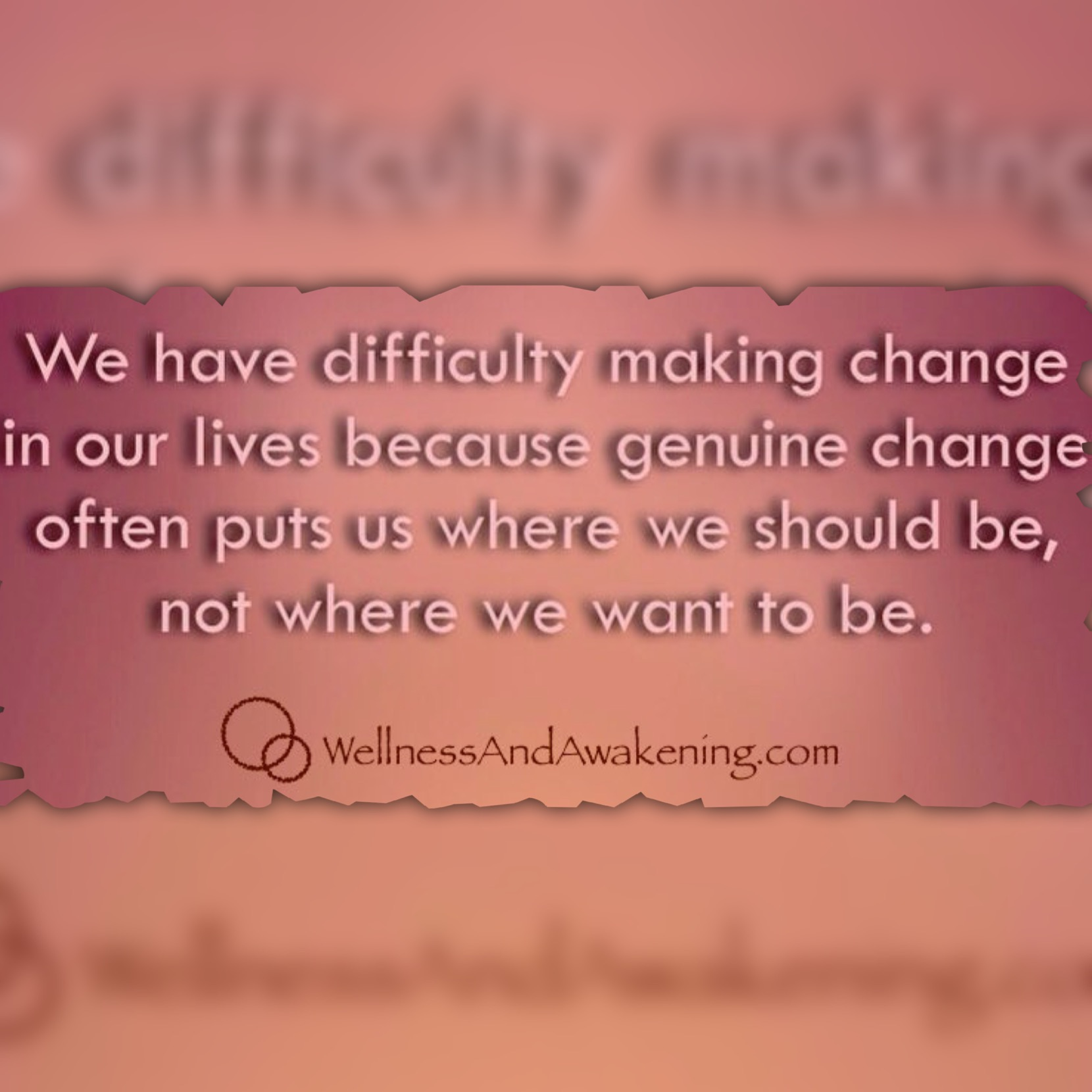 Difficulty changing