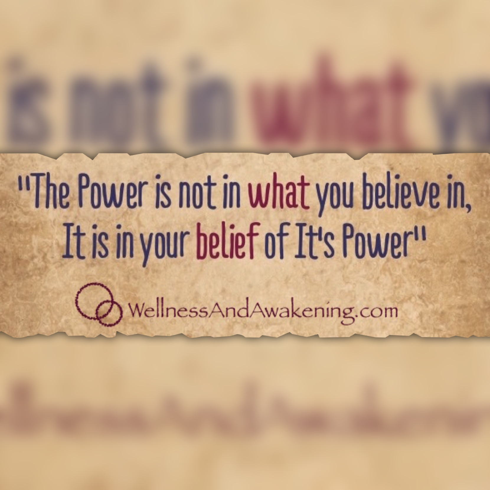 Belief in its power