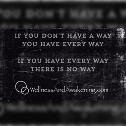 If you dont have a way