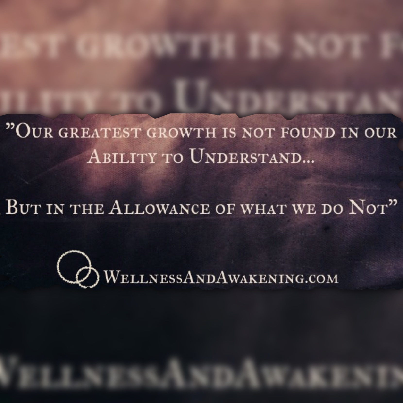 Our Greatest Growth