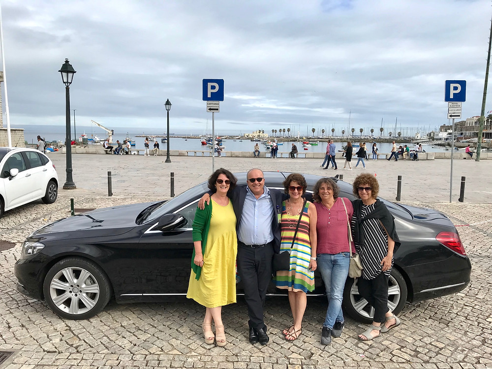 Tourists Having Fun on a Custom Tour in Lisbon, Portugal with a Private Driver Guide.