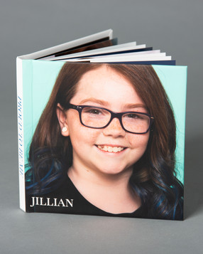 Aura Lux Photography Proud to Be Me tween photography album. Dark haired Caucasian girl with blue ombre hair and glasses smiling. Winter Garden FL