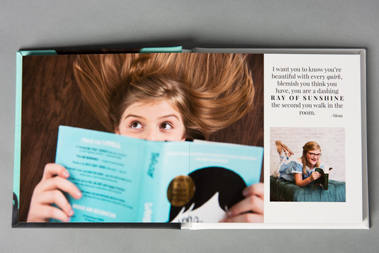 Aura Lux Photography Proud to Be Me tween photography album. Dark blonde haired Caucasian girl reading a book. Winter Garden FL