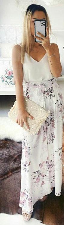 White floral pants