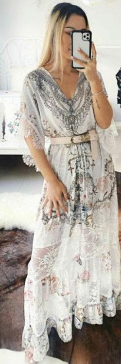 White gemstone dress