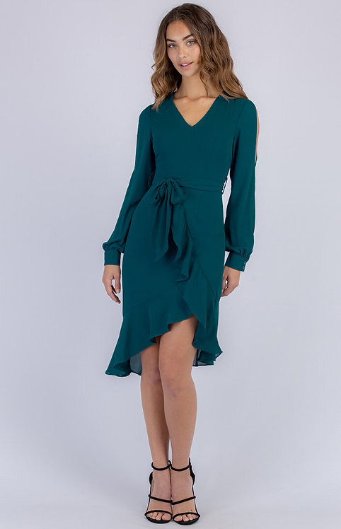 Jade split sleeve dress