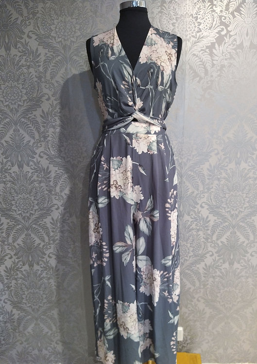 Twist floral jumpsuit