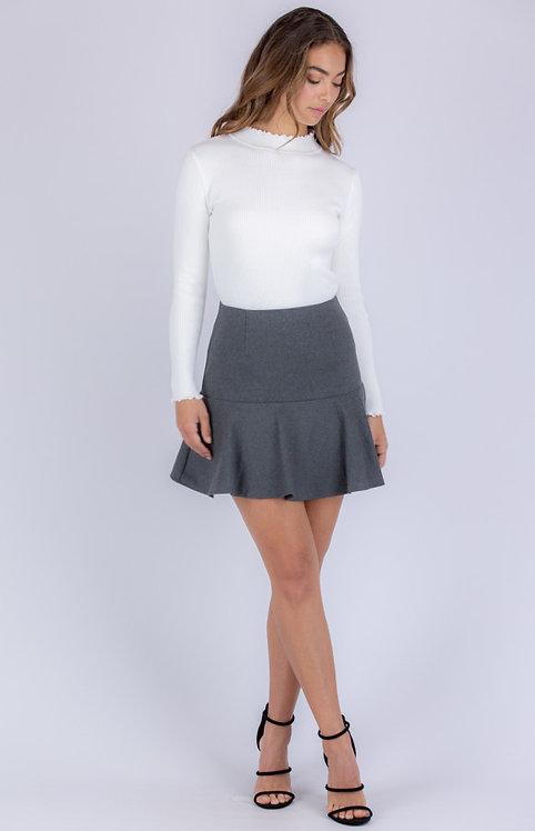 Knit school skirt
