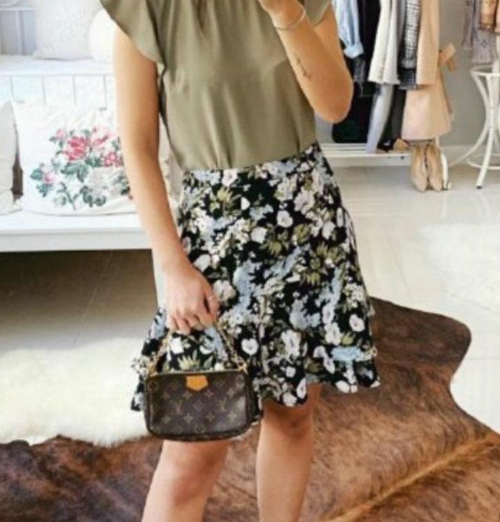 Floral skirt short