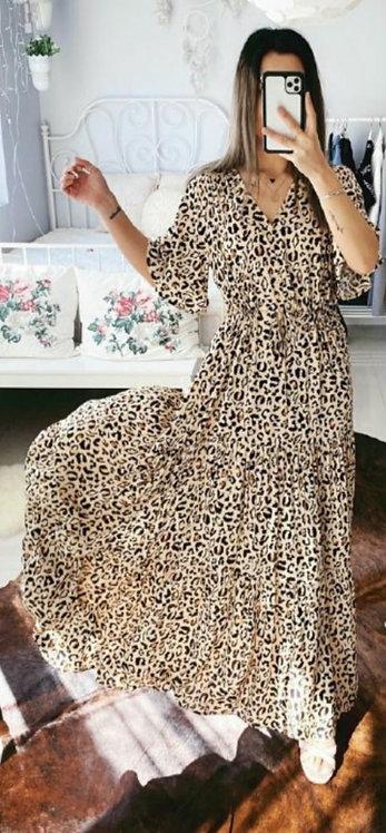 Long length leopard dress