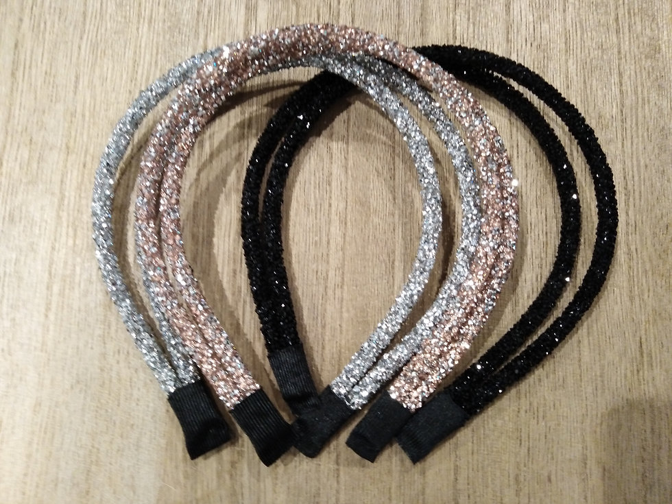 Glitter Double band headbands