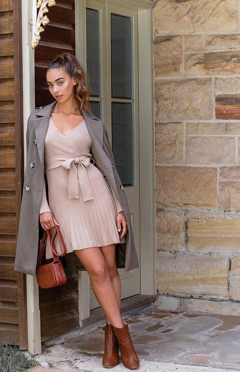 Caramel knit dress