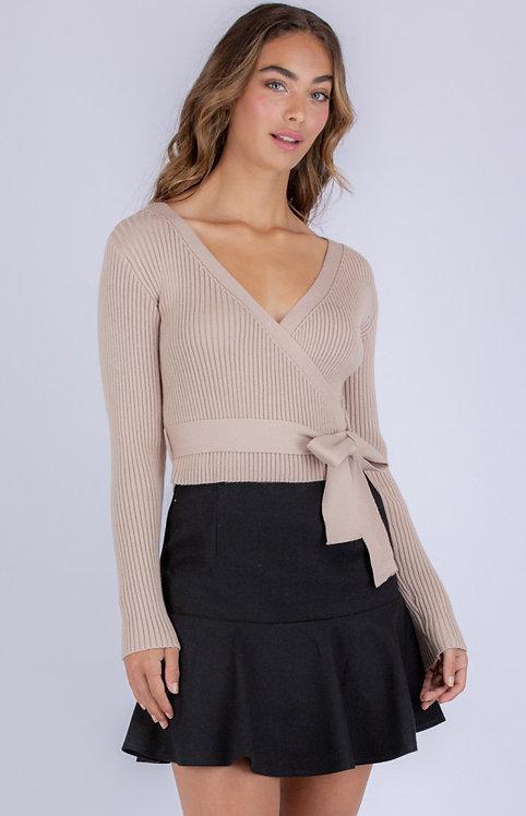 Beige knit top