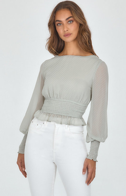 Textured shirred top