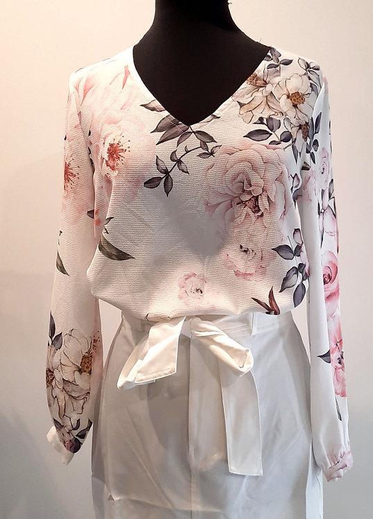 Floral split shirt