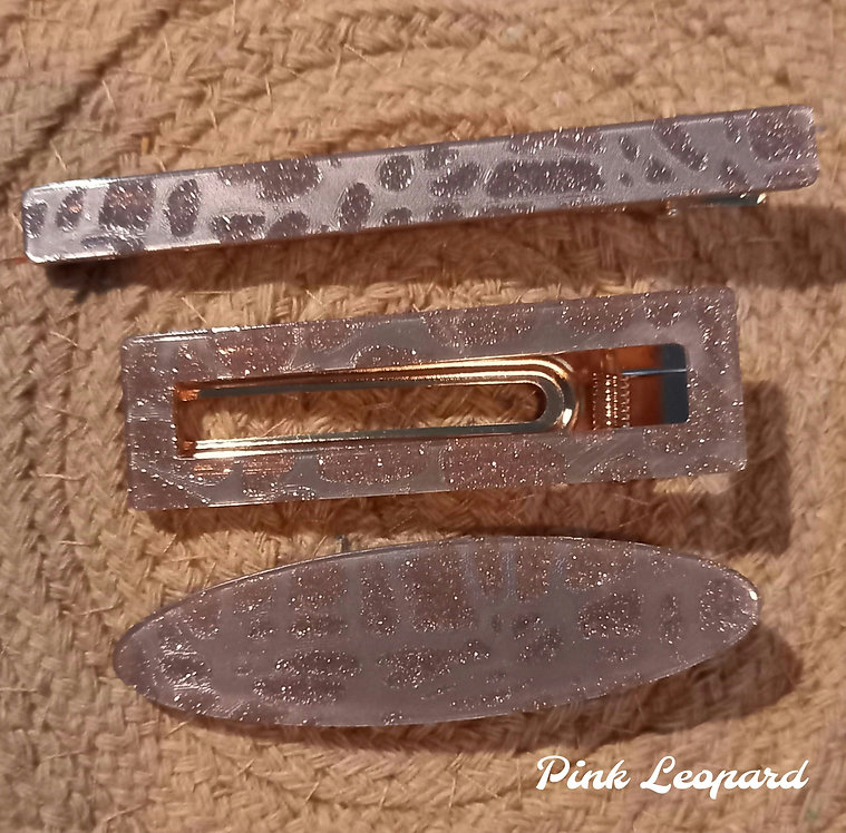 Leopard hairclip packs