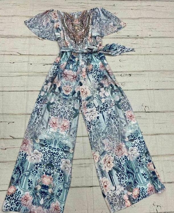 Mixed print jumpsuit